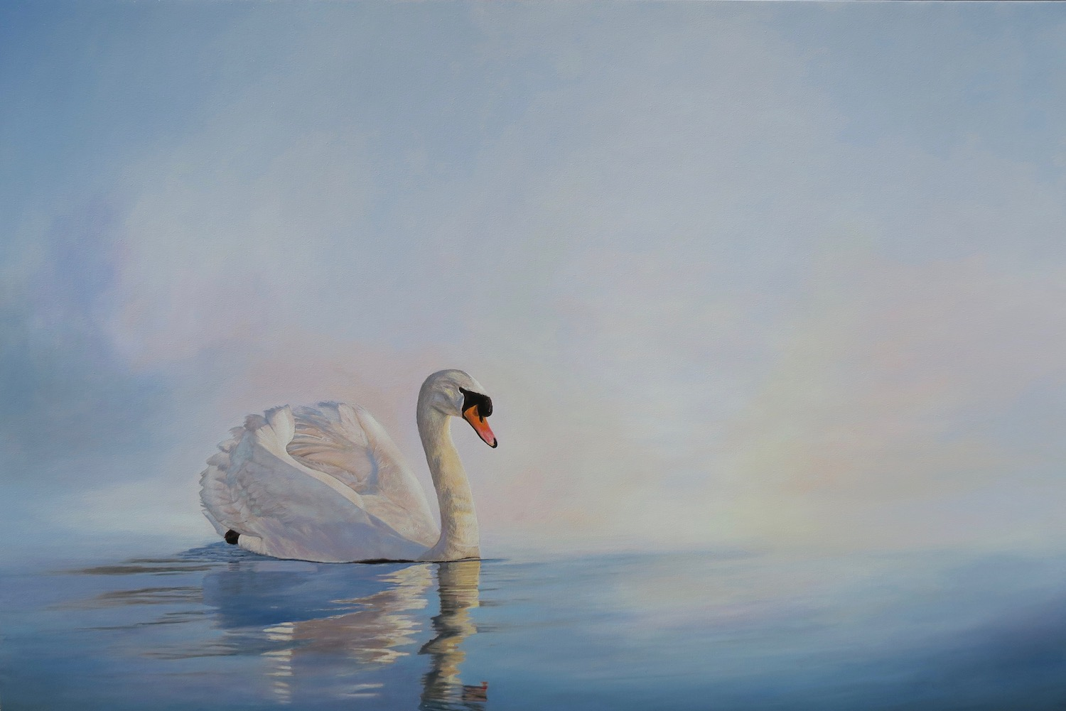 Painting of Swan 1 by Niko Dujmovic