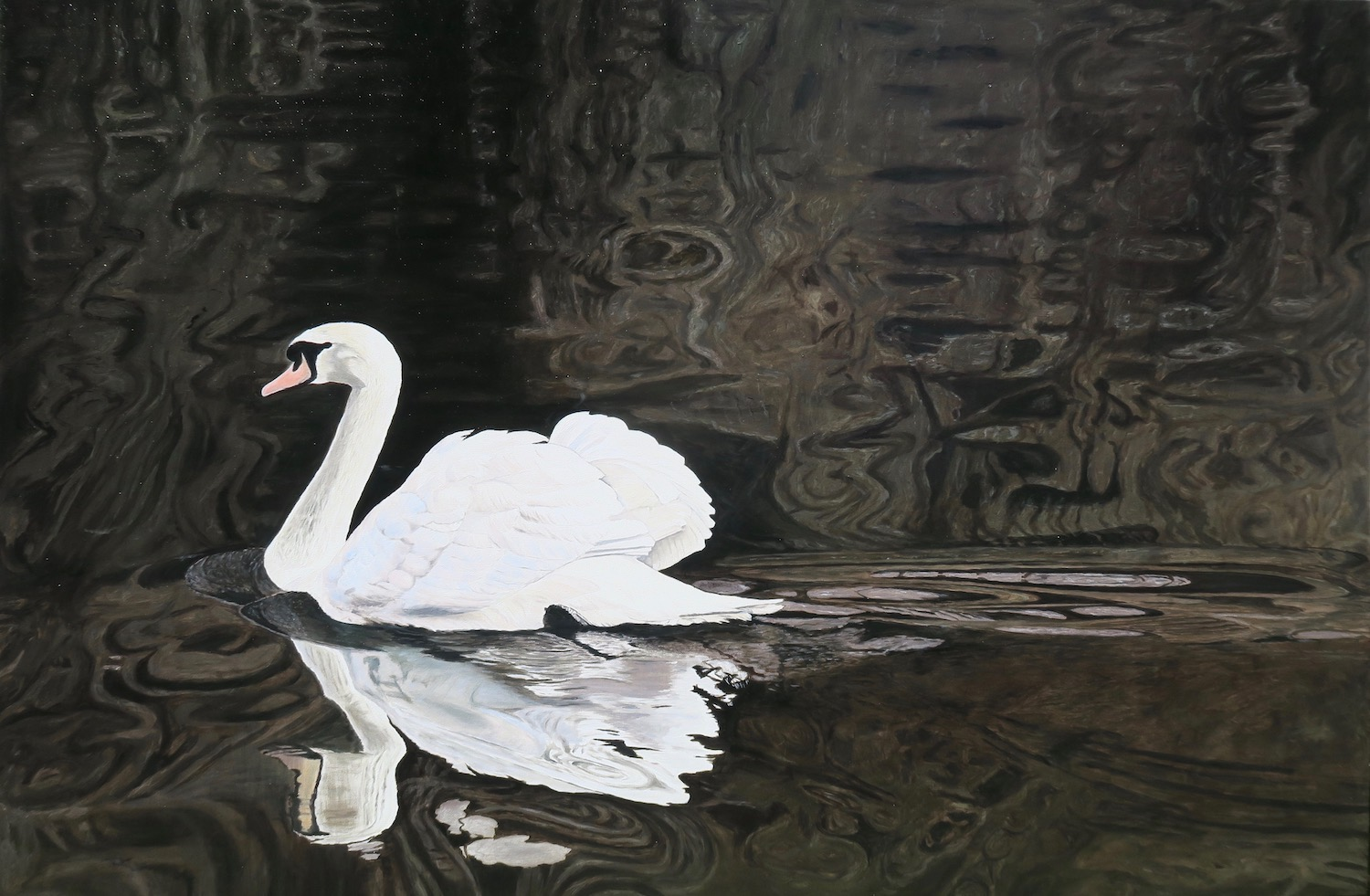 Painting of Swan by Niko Dujmovic