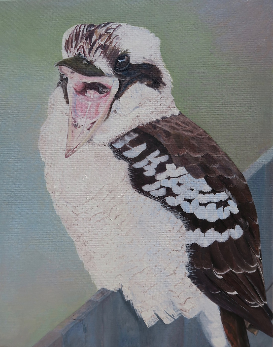 Painting of Angry Kookaburra by Niko Dujmovic